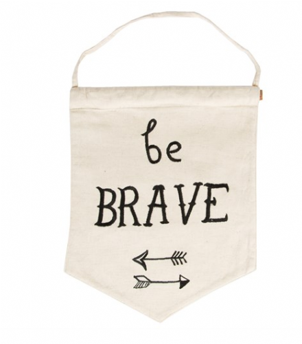 Be Brave Pastel Message Flag